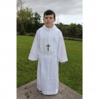 Ivory Altar Server Outfit with Pleats