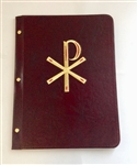A4 Pocket  Leather Folder Maroon with PX Design