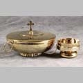 """Double Use"" Brass Gold Plated Ciborium."