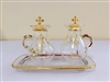Glass Cruet Set with Spout.