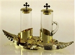 Cruet Set with Brass Tray