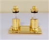 Heremetically Sealed Cruet with Gold Finish
