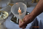 170 Easter Vigil Candles with Clear Beakers