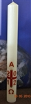 40x3inch Paschal Candle with Wax Relief and Incense Grains