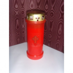 (NO 5) In Loving Memory Memorial Candle Red (30)