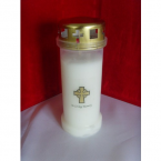 (NO 4) In Loving Memory Memorial Candle White (30)