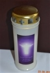 """In Life and Death we Belong to the Lord"" Memorial Candle"