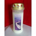 "(NO 2) Give them Eternal Rest O Lord"" Memorial Candle White (30)"