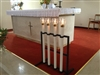 Processional Candles (4) & Stand