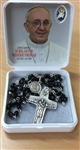 Square box with rosary beads ( Pope Francis)