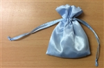Satin bag with Rosary Beads (blue)
