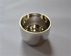 5cm Brass Candle Ring with Silver Finish.