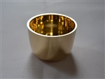 5cm Brass Candle Ring with Gold Finish.
