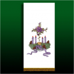 Advent Candles Banner with Gold Trim 160cm x 55cm