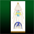 Angel Over Crib Banner with Gold Trim 160cm x 55cm