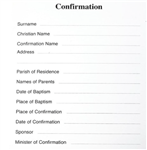 Confirmation Registration Card (Pack 100)