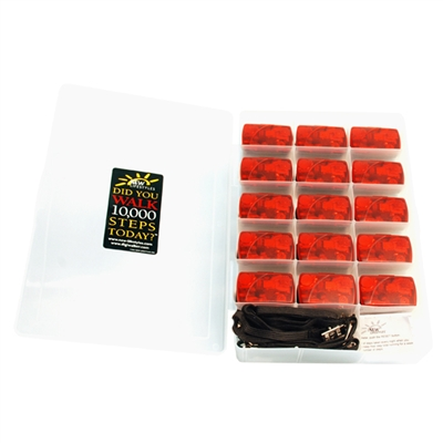 NEW-LIFESTYLES Red AT-series Pedometer Class Kit of 15