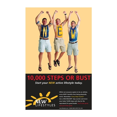 10,000 Steps or Bust Poster