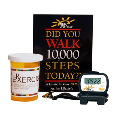 "NEW-LIFESTYLES DIGI-WALKERâ""¢ Pedometer Rx EXERCISE Gift Pack"