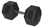 27.5kg Hex Rubber Dumbbell, 27.5kg Hex Dumbbell, 27.5kg Dumbbell, Hex Rubber Dumbbells, Hex Rubber Coated Dumbbells, Commercial Dumbbells, Commercial Rubber Dumbbells,