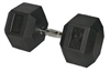 30kg Hex Rubber Dumbbell, 30kg Hex Dumbbell, 30kg Dumbbell, Hex Rubber Dumbbells, Hex Rubber Coated Dumbbells, Commercial Dumbbells, Commercial Rubber Dumbbells,