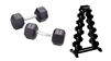 York Hex Rubber Dumbbell Set, York Hex Dumbbell Set, Hex Rubber Dumbbells, Hex Rubber Coated Dumbbells, Commercial Dumbbells, Commercial Rubber Dumbbells,