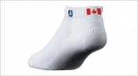 Footjoy Mens Canada ComfortSof Sport Socks (3 pack), White