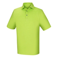 FootJoy Men's Golf Shirt - Lisle Space Dyed Polo - Green