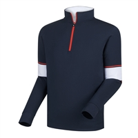 FootJoy Men's Layering-  Performance Half-Zip + Engineered Sleeves
