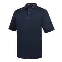 FootJoy Men's Golf Shirt -  Stretch Pique Basketweave Print Trim Knit Collar