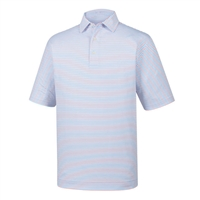 FootJoy Men's Golf Shirt - Lisle Classic Stripe Self Collar