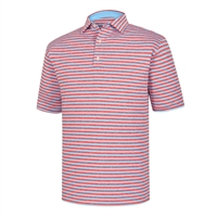 FootJoy Men's Golf Shirt -  Heather Lisle Stripe Self Collar
