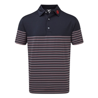 FootJoy Men's Golf Shirt - Lisle Multi Pinstripe