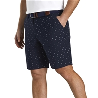 FootJoy Lightweight Striped Shorts, Navy/White