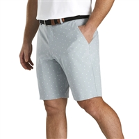 FootJoy Lightweight Striped Shorts, Grey/White