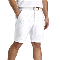 FootJoy Lightweight Striped Shorts, White/Slate