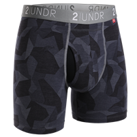 2UNDR Swing Swift Golf Boxer Brief - Black Camo