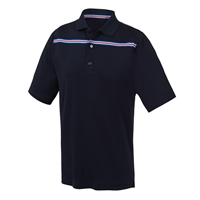 FootJoy Men's Golf Shirt - Lisle Stripe Knit Collar