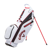 Callaway 2021 Fairway C Double Strap Stand Bag, White/Black/Red