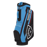 Callaway 2021 Chev 14 Cart Bag, Black/Cyan/Fire Red