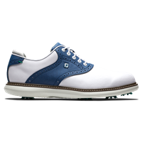 FootJoy Men's Traditions Classic Golf Shoes - White/Navy