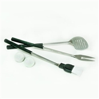 5-Piece BBQ Grilling Tool Set with Golf Grips!