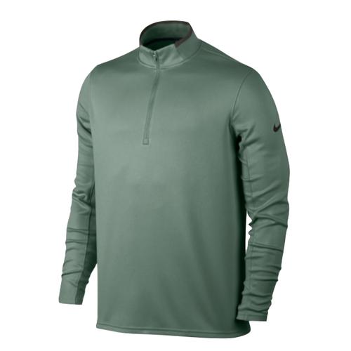 282840ae5 Nike Mens Dri Fit Half Zip Long Sleeve Golf Top, Clay Green