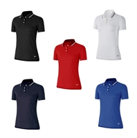 Ladies Nike Dry Vapor Solid Polo Custom Logo Golf Shirts