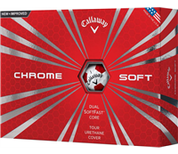 Callaway Chrome Soft 2018 Truvis Red Golf Balls