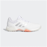 adidas Women's CodeChaos Golf Shoes, Cloud White/Silver/Coral