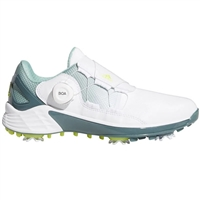 adidas Women's ZG21 BOA Golf Shoes - Cloud White/Acid Yellow/Hazy Green