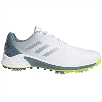 adidas Men's ZG21 Golf Shoes - White/Acid Yellow/Blue Oxide
