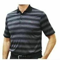 Greg Norman Spacedaye Stripe Polo, Black