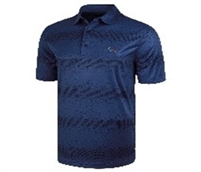 Greg Norman Pixelated Stripe Polo, Navy